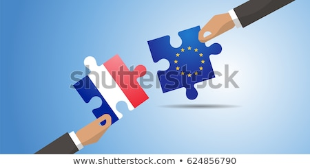 france and european union flags in puzzle stock photo © istanbul2009