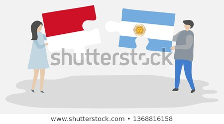 Indonesia and Argentina Flags in puzzle Stock photo © Istanbul2009