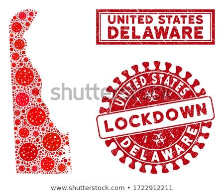 Delaware vermelho Estados Unidos mapa projeto fundo Foto stock © iqoncept