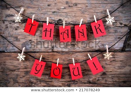 teşekkür · ederim · kart · Noel · eps · vektör - stok fotoğraf © beholdereye