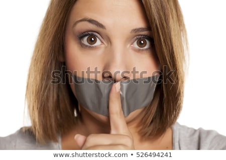 young woman in censorship concept stock photo © elnur