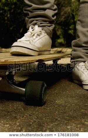 Skateboarders Feet Close Up Stock photo © arenacreative