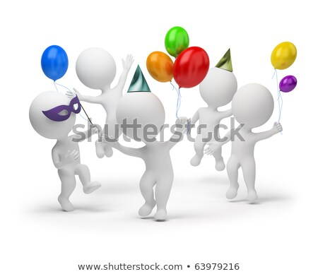 3d small people   happy stock photo © anatolym