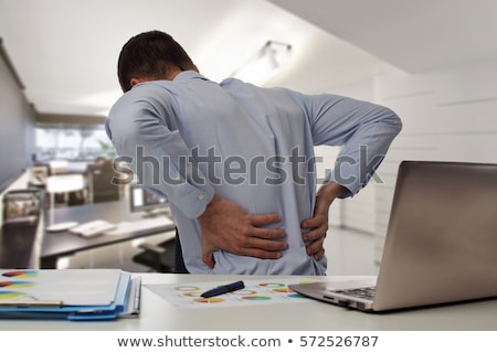 back pain medical concept stock photo © tashatuvango