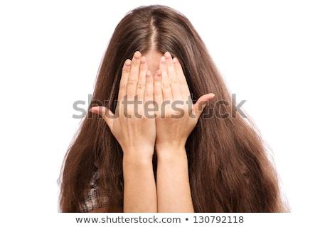 mulher · mãos · algo · mulher · de · negócios · negócio · mão - foto stock © fuzzbones0