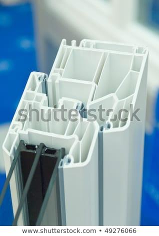 branco · plástico · janela · abrir · isolado · luz - foto stock © pixpack