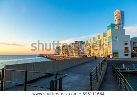 Torso ciudad mojón edificio escandinavia construcción Foto stock © stevanovicigor