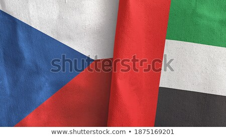 United Arab Emirates and Czech Republic Flags Stock photo © Istanbul2009