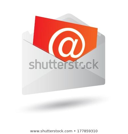e-mail · ikon · parlak · gri · yalıtılmış · beyaz - stok fotoğraf © zeffss