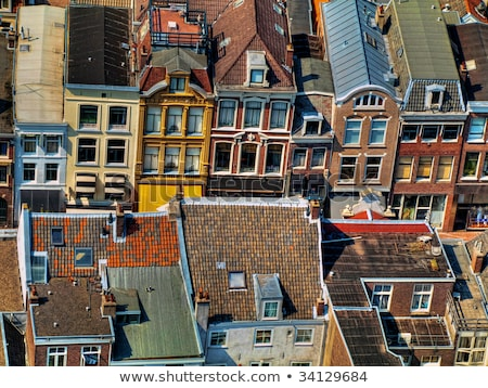 Cidade Holanda ver igreja casa viajar Foto stock © ldambies