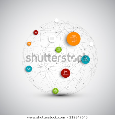 Vector abstract circles illustration / infographic network template Stock photo © orson