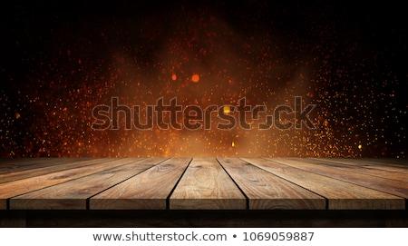 Stok fotoğraf: Yangın · ahşap · doku · alternatif · güç · kar · arka · plan