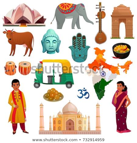 India · nap · gyűjtemény · szett · szimbólumok · ikonok - stock fotó © marish
