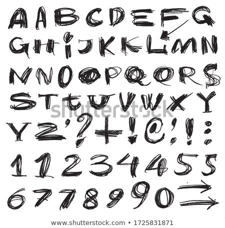 decoratief · vector · alfabet · brieven · communie - stockfoto © kiddaikiddee