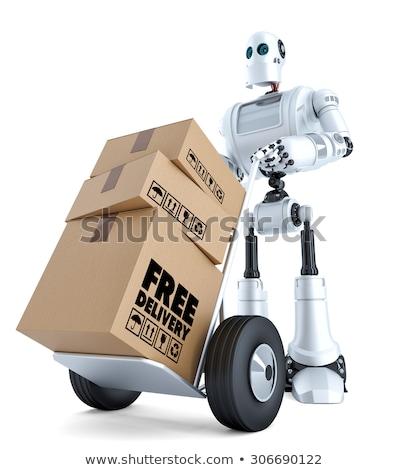 3D Kurier Roboter Hand LKW Stock foto © Kirill_M