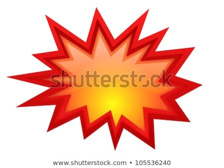 Flash nuage rouge vecteur icône bouton Photo stock © rizwanali3d