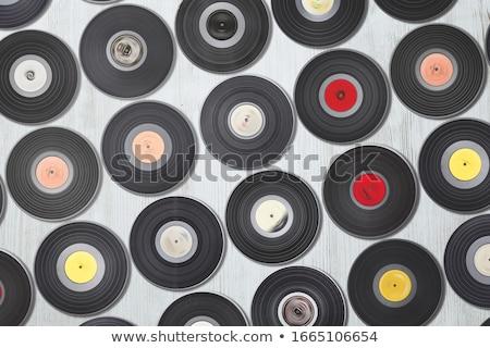 Stock fotó: Különböző · lemez · lp · album · lemez · zöld