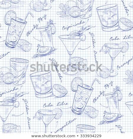 cosmopolita · álcool · coquetel · coleção · isolado · branco - foto stock © netkov1