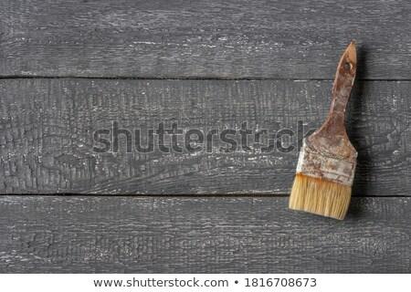 古い 中古 絵筆 素朴な 木板 レトロな ストックフォト © stevanovicigor