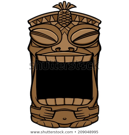Vector of halloween totem pole. Stock photo © Morphart