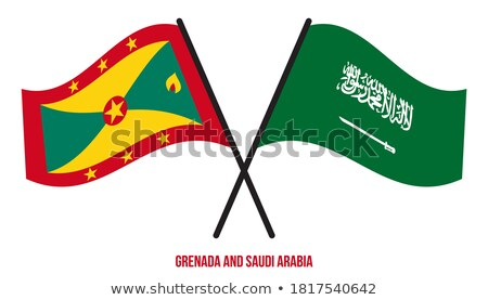 Saudi Arabia and Grenada Flags Stock photo © Istanbul2009