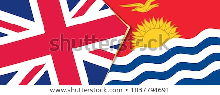 Büyük Britanya Kiribati bayraklar bilmece yalıtılmış beyaz Stok fotoğraf © Istanbul2009