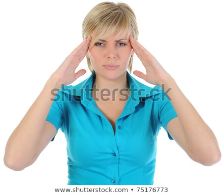 Depressed blonde woman with hand on temple  Stock photo © wavebreak_media