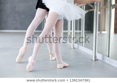 ストックフォト: 2 · バレエ · ダンサー · ポーズ · 白