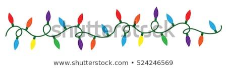 クリスマス 光 孤立した 白 緑 ストックフォト © plasticrobot