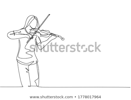 Violinist girl Stock photo © ensiferrum