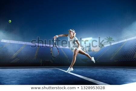 スポーツ 少女 ボール 良い スポーツ 図 ストックフォト © bezikus