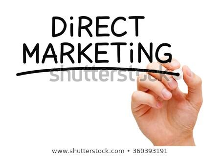direct marketing black marker stock photo © ivelin