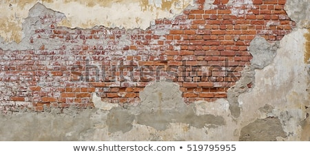 edad · rojo · pared · de · ladrillo · textura · real · antigua - foto stock © stevanovicigor
