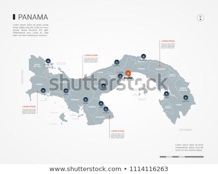 Harita Panama hat örnek Stok fotoğraf © rbiedermann