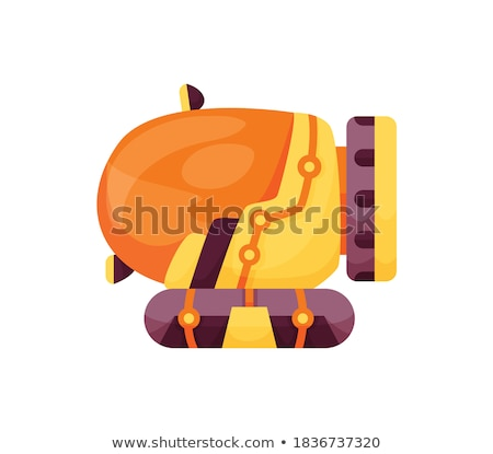 Underwater card with old ship, vector illustration Stock photo © carodi