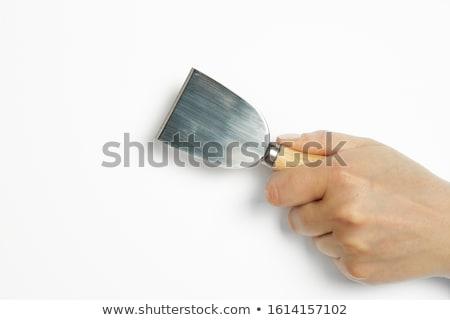 Queso cuchillo apetitoso marrón placa leche Foto stock © lidante