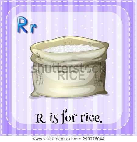 Flashcard alphabet R is for rice Stock photo © bluering