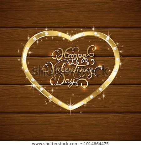 vetor · diamante · coração · violeta · brilhante · casamento - foto stock © cienpies