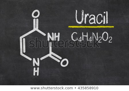 blackboard with the chemical formula of uracil stock photo © zerbor