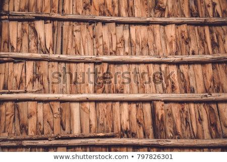 fa · nyaláb · tető · új · lakások · ház - stock fotó © ca2hill
