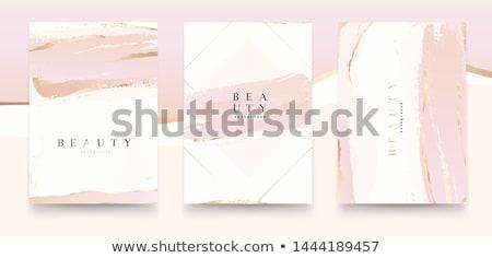 エレガントな パンフレット テンプレート デザイン インク ブラシ ストックフォト © sdmix