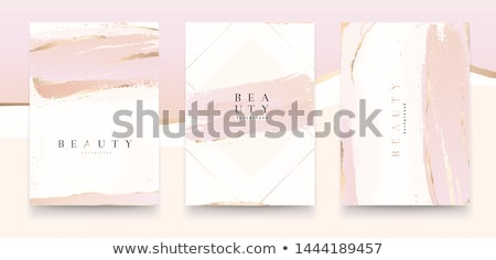 elegant brochure template design with ink brush elements stock photo © sdmix