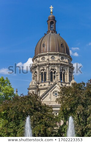 Dome of The Old Historic Christuskirche Church in Mainz Stock photo © meinzahn