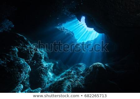 выход · пещере · Солнечный · пейзаж · лес · Blue · Sky - Сток-фото © hraska