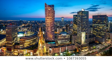 Modern skyscrapers in business and financial district in Warsaw Stock photo © filipw