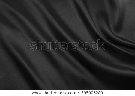 zwarte · satijn · abstract · weefsel · illustratie · vector - stockfoto © derocz