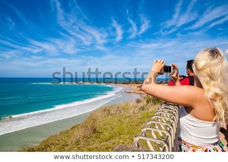 muhteşem · okyanus · yol · plaj · gün · batımı · manzara - stok fotoğraf © jeayesy
