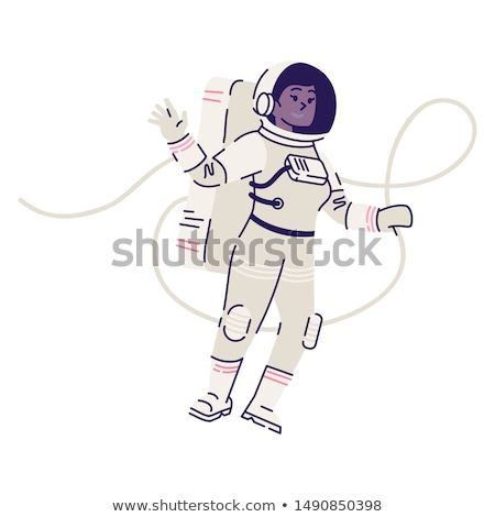 A smiling astronaut in the outerspace Stock photo © bluering
