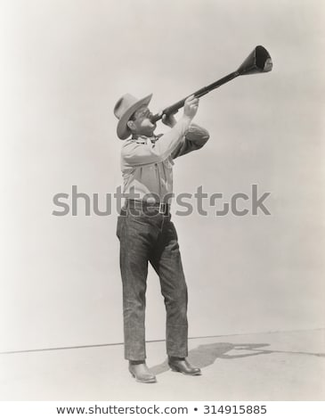a man holding a megaphone   wake up stock photo © zerbor