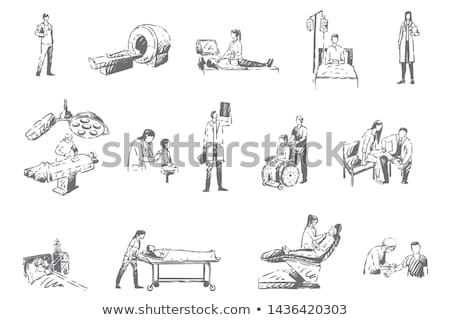 A simple sketch of a physician Stock photo © bluering
